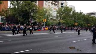 Infantería de Marina española en el 12 de Octubre de 2018. MADRID.