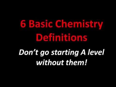 6 Basic Chemistry Definitions