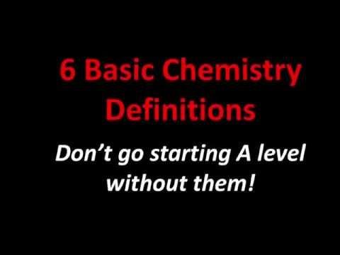 6 Basic Chemistry Definitions