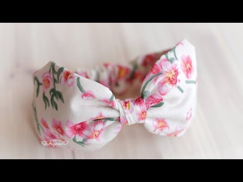 Cotton Bow Headbands For Babies – Fabric Headband Tutorial