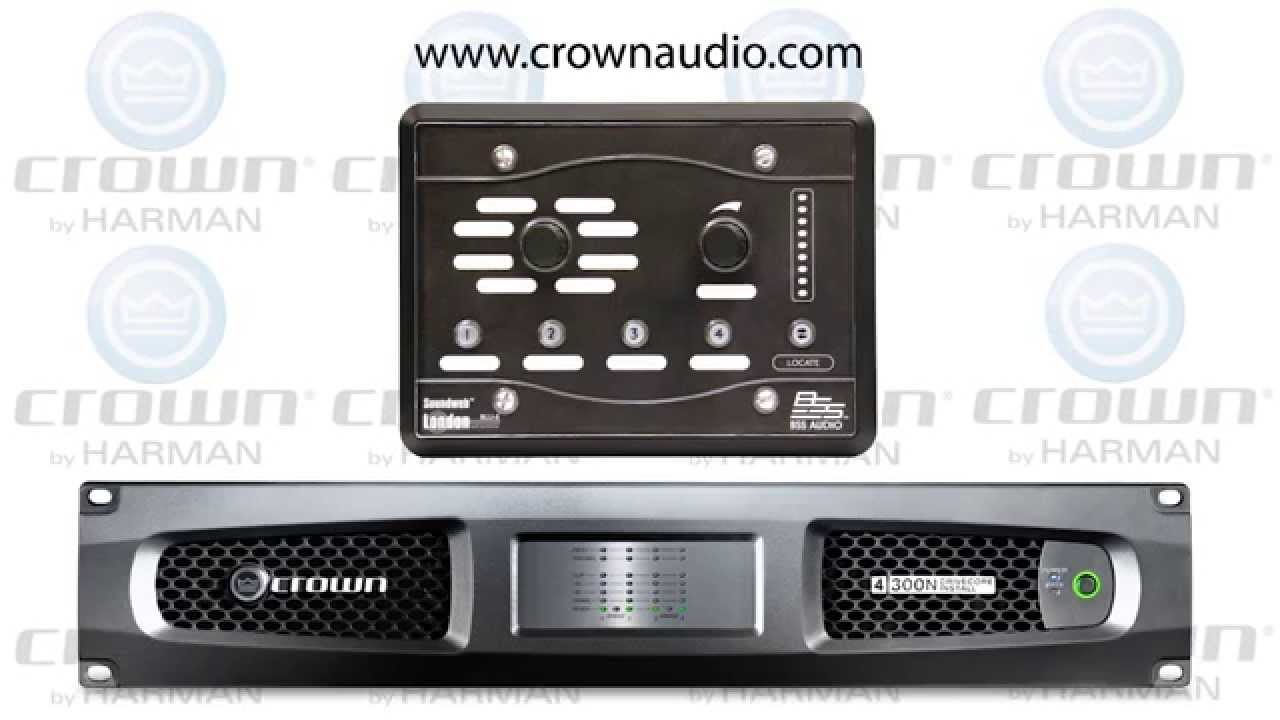 Crown Amplifiers Crown Drivecore Install Network Bss Audio Blu8v2