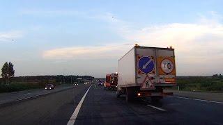 Беопасное нанесение разметки на трассе М5