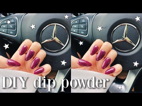 How I Do My Nails At Home Using Dip Powder (no Acrylic)