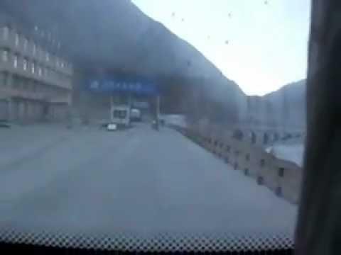 チベット自治区の公安チェックポスト突破(Tibet check post broke through)