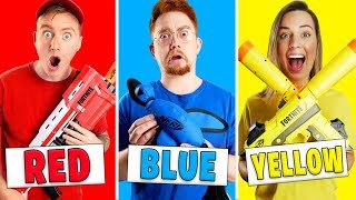 Using Only ONE Color in Nerf MYSTERY BOX Challenge!