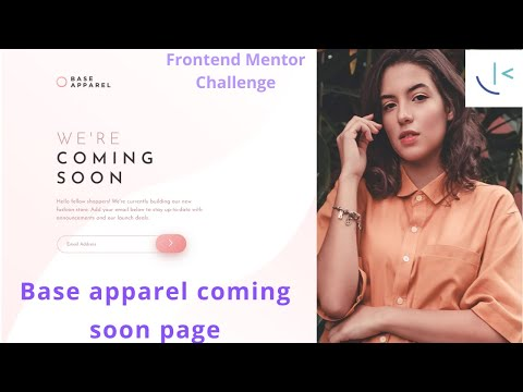 Frontend Mentor Challenge | Base Apparel Coming Soon Page | HTML CSS JavaScript