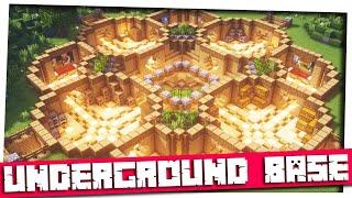 Minecraft - Unique Underground Base|Minecraft Timelapse|Base Inspiration & Ideas|World Download!