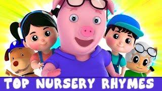 Melhores Rimas De Crianças | Coleção De Músicas Populares | Canções Do Bebê | Top Kids Rhymes
