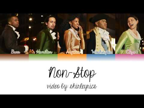 1-23. Non-Stop (Hamilton) - Color Coded Lyrics