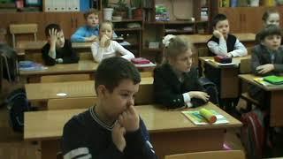 Видеозапись урока русского языка на тему