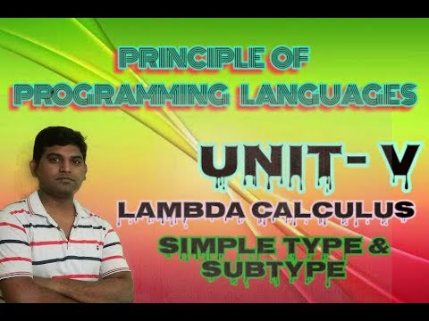PPL Lecture 18: Lambda Calculus Simply Type and Subtype Full Explanation in Hindi by Vishwakarma ji