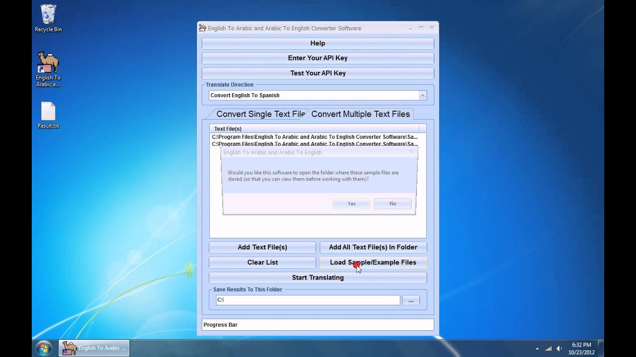 How To Use English To Arabic and Arabic To English Converter Software