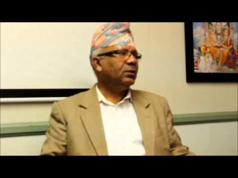 Madhav Kumar Nepal in SPNF USA Office