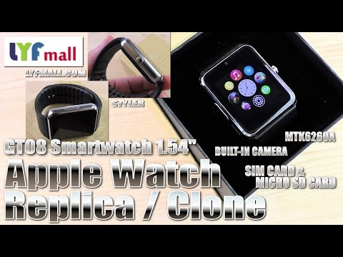 Apple Watch ⌚ alternative? (Hands-on/Unboxing) GT08 Smartwatch, Cam, SIM & MicroSD