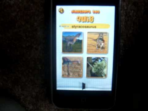 3yr old plays dinosaur 360 quiz on iphone