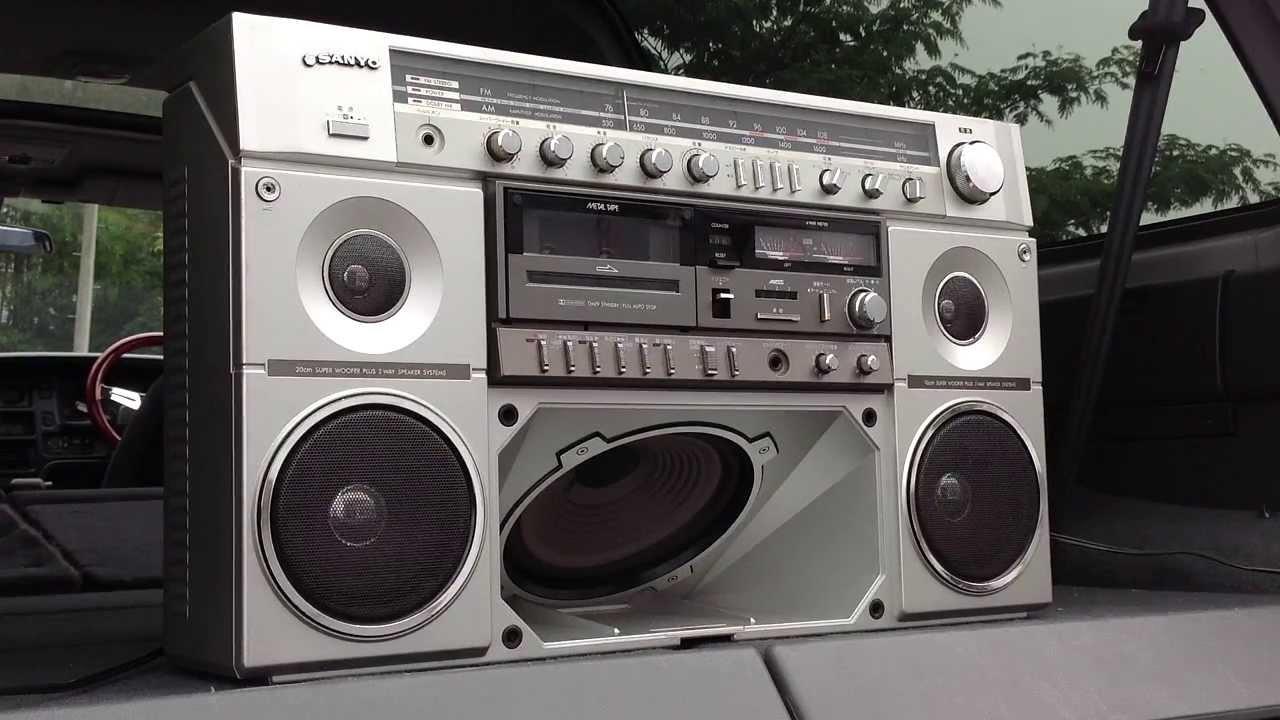 Sanyo mr x20 boombox ghettoblaster youtube - Ghetto blaster acheter ...