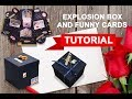 Explosion Box/BIRTHDAY GIFT/ SURPRISE BOX/ Funny Cards Tutorial