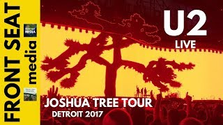 U2 Where The Streets Have No Name live -- The Joshua Tree Tour -- Detroit 2017 4K