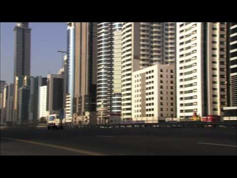 Red Bull F1 car on the streets of Dubai