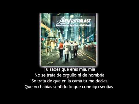 Aventura  All Up To You lyric  letra