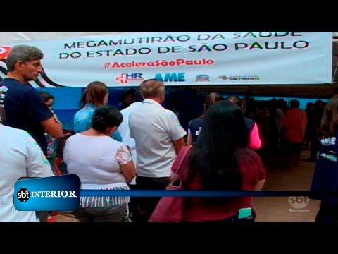Mega mutirão de saúde oferece consultas e exames no centro de Presidente Prudente