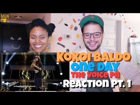Kokoi Baldo - One Day (The Voice Philippines) Reaction Pt.1