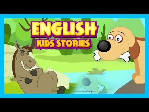 English Kids Stories - The Lazy Horse, The Greedy Dog and More    Animated English Stories