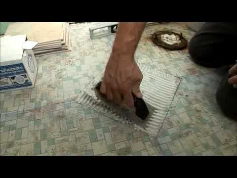 How To Lay Tile In The Bathroom YouTube - Laying bathroom tile