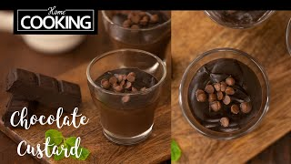 Chocolate Custard  Chocolate Custard Pudding  Quick Dessert  Chocolate Recipes