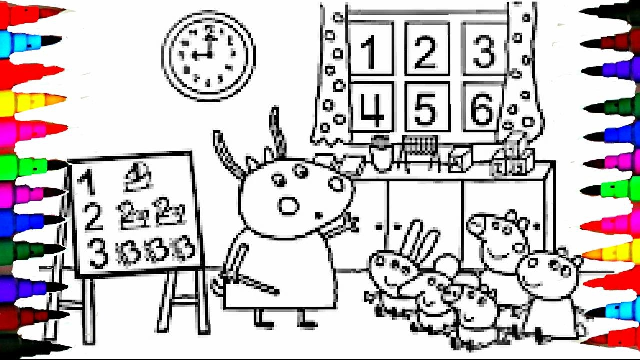 Peppa Pig Coloring Book Pages Kids Fun Art Activities For Children Learning Rainbow Colours