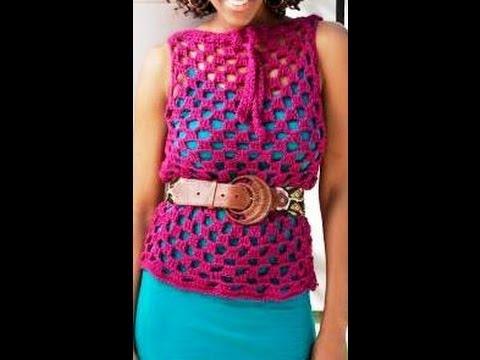 Como Tejer tunica en #crochet para encima de blusa - video 1 - YouTube