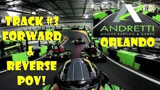 Andretti Indoor Karting & Games Orlando Track #3 Forward & Reverse POV Fast Racing / EPIC CRASHES!