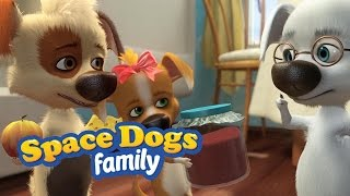 SPACE DOGS FAMILY - Puppies Love to Eat!