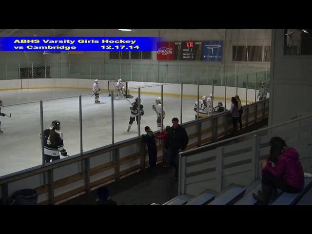 Acton Boxborough Girls Ice Hockey vs Cambridge 12/17/14