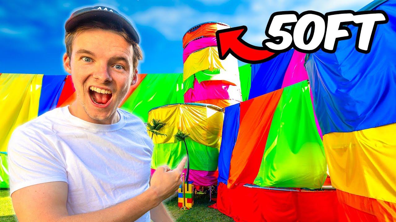 I Built The WORLD'S BIGGEST Blanket Fort!