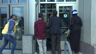 Web Extra: Chaos outside the Waterbury Courthouse