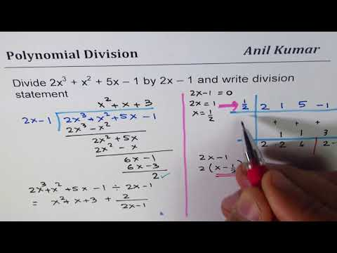 Why Quotient Is Half When Divide By (2x - 1) In Synthetic Division