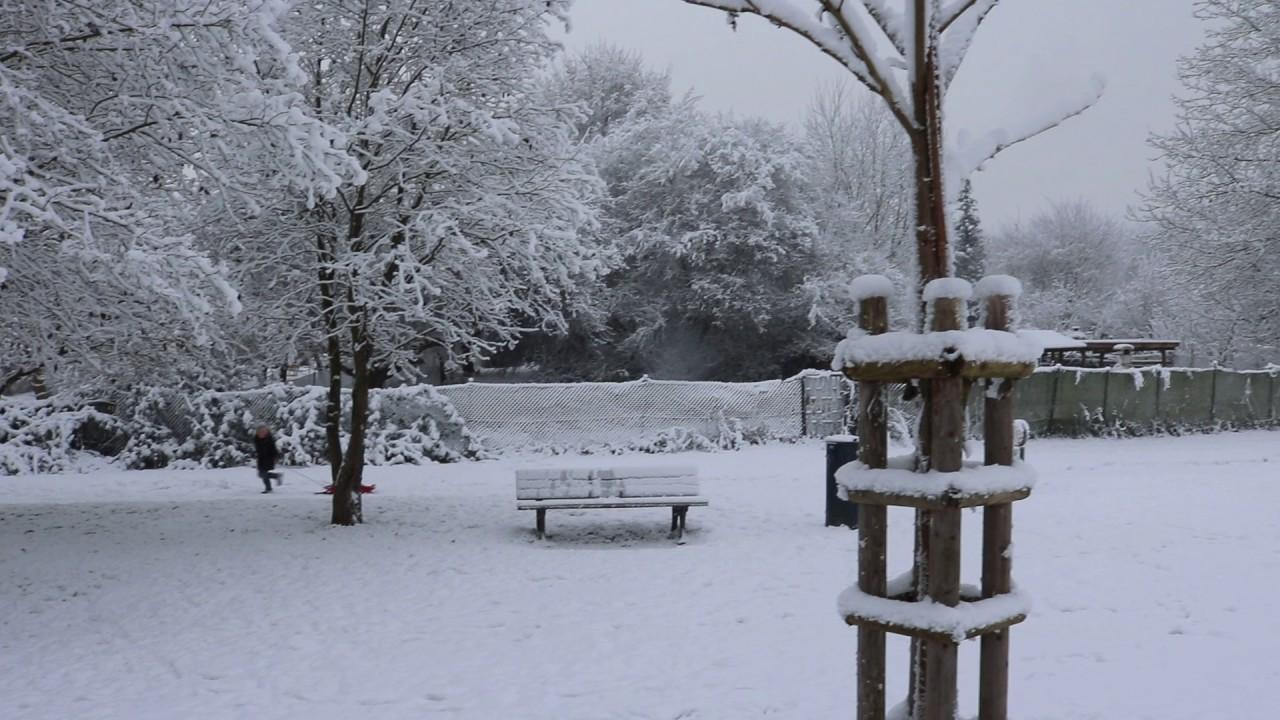 Snow In Frankfurt Germany 31st December 2016 Youtube