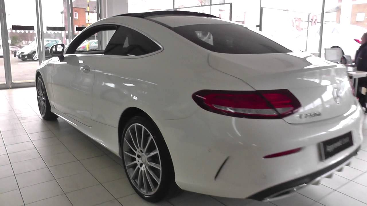 mercedes benz c class coupe 2015 c 250 d amg line coupe u17691 youtube. Black Bedroom Furniture Sets. Home Design Ideas