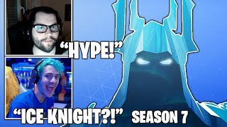 STREAMERS Reacts TO *NEW* ICE KNIGHT SKIN! (SEASON 7 TEASER!) Fortnite FUNNY & Daily Moments