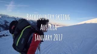 Backcountry skiing Jan17, Austria