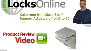 Kalabrone Mini Glass Shelf Support Adjustable From5 To 10 Mm Locksonline Product Reviews