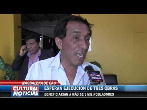 MAGDALENA DE CAO: Alcalde solicita priorizar ejecución de tres obras
