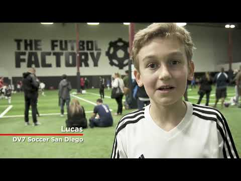 David Villa visits the DV7 Academy in San Diego, CA