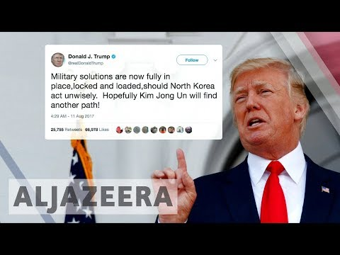 Trump warns North Korea: US military 'locked and loaded'