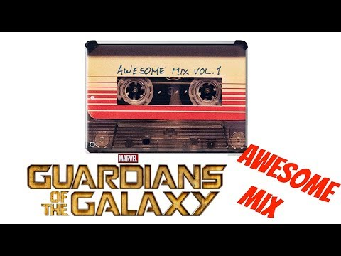 GUARDAINS OF THE GALAXY AWESOME MIX VOL.1 Cassette Tape UNBOXING and REVIEW