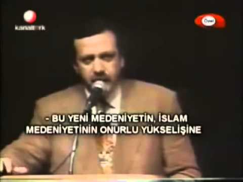 "Turkish PM past speeches ""Democracy can never be the goal"""