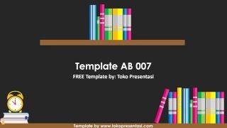 [Tokopresentasi.com] AB 007- Template Powerpoint Gratis (Tema Buku)