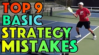 Top 9 Basic Pickleball STRATEGY Mistakes & How To Fix Them