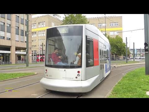 Trams in Düsseldorf, Germany - Siemens NF8